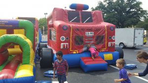firetruck bounce house obstacle course rockwall allen plano