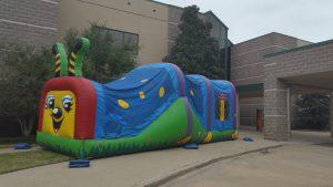 bouncy house slide combo happy caterpillar