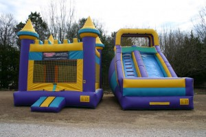castle_combo inflatables bounce house dry slide rockwall allen plano
