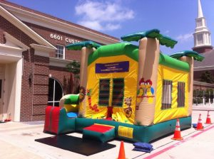 bounce house slide combo jungle