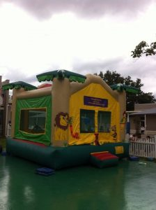 jungle inflatable slide bouncer