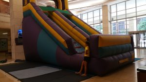 indoor dry slide castle church event rockwall allen plano