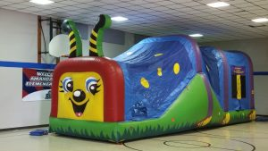 bouncy house slide combo happy caterpillar