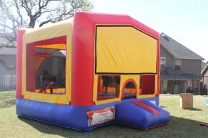 banner bounce house party