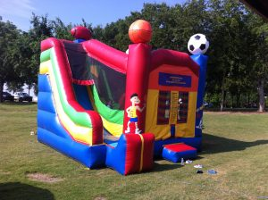 sports bounce house slide