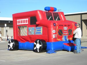 town-of-prosper-christams-2009 firetruck bounce house rockwall plano allen