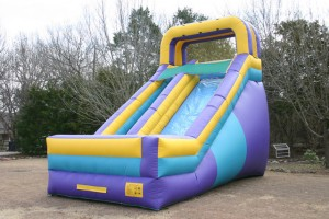 tall castle inflatable slide for rent