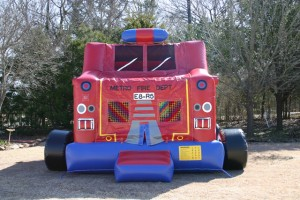 bounce house for toddlers fire truck